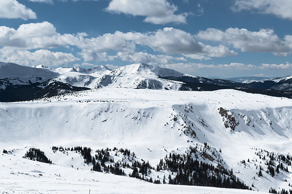 Snowy Winter in the Rocky Mountains of Colorado