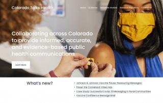 Colorado Talks Health Website Homepage