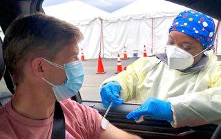 Drive-through COVID-19 Vaccination Site